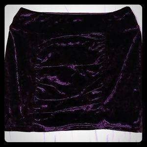 Candies Size Large Purple Velvet Mini Skirt
